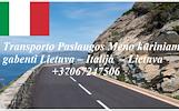 MOTO - Krovinių pervežimas -- PERKRAUSTYMAS -- Italija -- Lietuva