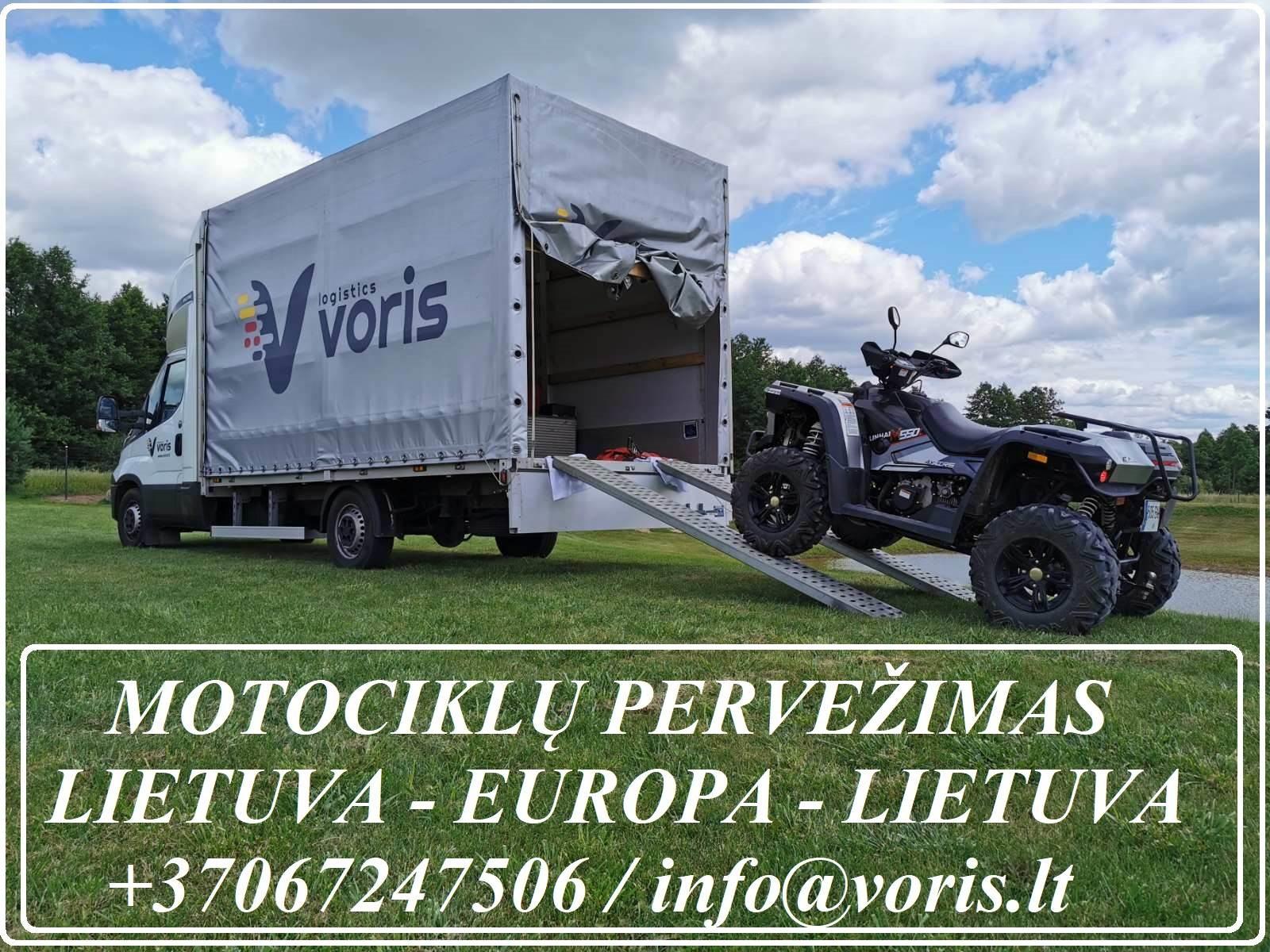 Motociklu pervezimai, parvezimas LIETUVA - EUROPA - LIETUVA +37067247506 EKSPRES PERVEZIMAI , Skubus krovinių, siuntų, automobilių dalių ar pan. prist
