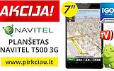 """NAVITEL T500 3G + Navigacija+TELEVIZIJA Android OS, 7"""" ekranas"""