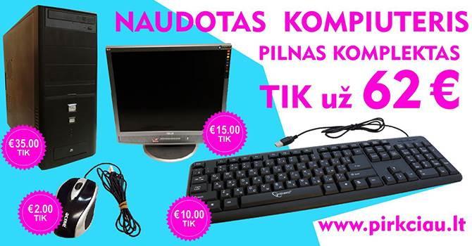 NEBRANGUS 35 eur naudotas stalinis kompiuteris su garantija