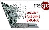 Nešiojamų kompiuterių EKRANAI, JŲ REMONTAS GERIAUSIOMIS KAINOMIS