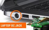 Nešiojamų kompiuterių išlūžusių DC lizdų remontas