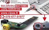 NEŠIOJAMŲ KOMPIUTERIŲ MAITINIMO LIZDŲ REMONTAS