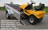 Nuoma priekabu,tralu,platformu, moto priekabu: +37062387452