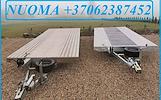 Nuomuojame priekabas,tralus,platformas, moto priekabas: +37062387452