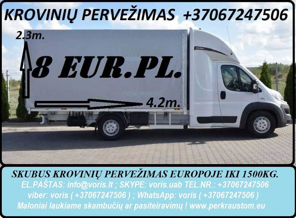 PERKRAUSTYMAI !!!! +37067247506 Vietiniai ir tarptautiniai pervežimai-perkraustymai.  LIETUVA - EUROPA - LIETUVA (Berlynas, Liuksemburgas, Viena, Mona