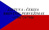 Perkraustymo paslaugos ČEKIJA-Lietuva-ČEKIJA LT-CZ-LT