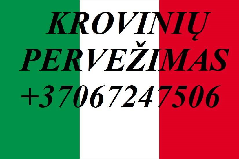 Perkraustymo paslaugos Italija-Lietuva-Italija! LT-IT-LT