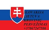 Perkraustymo paslaugos Slovakija-Lietuva-Slovakija LT-SK-LT