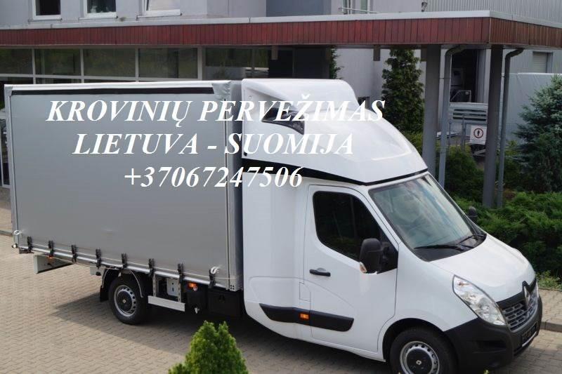 Perkraustymo paslaugos SUOMIJA-Lietuva-SUOMIJA LT-FIN-LT