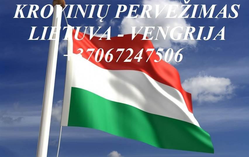 Perkraustymo paslaugos Vengrija-Lietuva-Vengrija LT-HU-LT