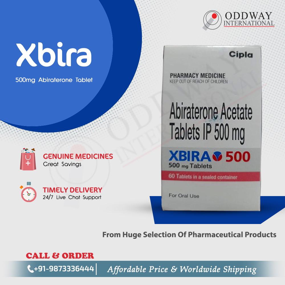 Pirkite Cipla Xbira 500 mg Abiraterone tabletę internetu