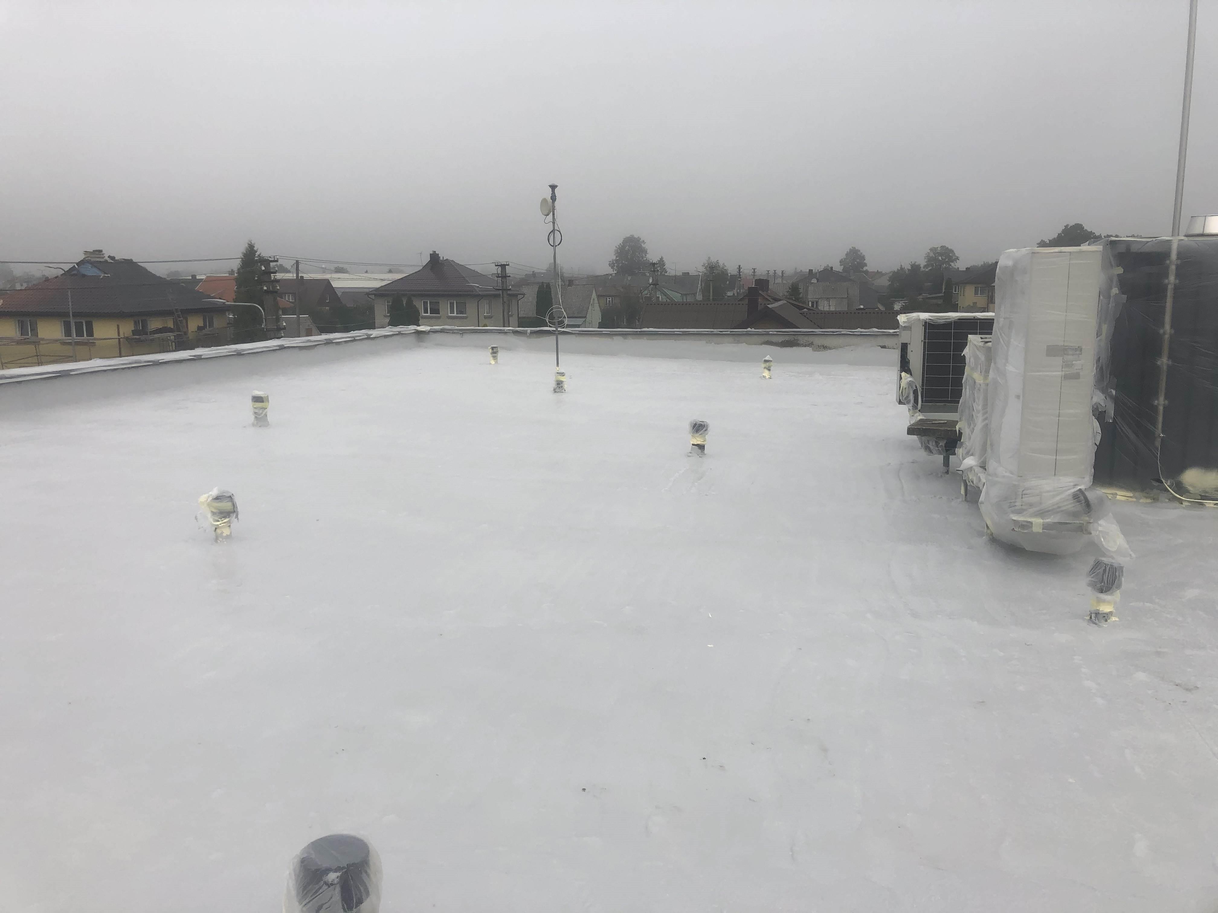 Plokščių stogų dengimas Hidroizoliacija