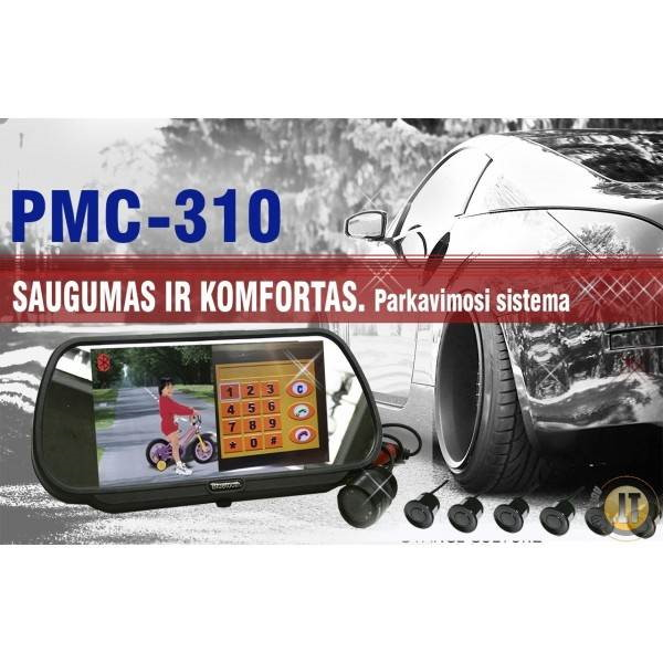 PMC-310 PARKAVIMO SISTEMA VEIDRODYJE SU BLUETOOTH, KAMERA
