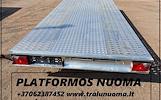 Priekabų ir Tralų Nuoma ! +37062387452 www.tralunuoma.lt  PLATFORMOS MATMENYS: ILGIS 5m. PLOTIS 2.10m. Keliamoji galia 2000kg  TRALIUKO MATMENYS: ILGI