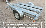 Priekabu NUOMA ( Platformu, traliuku , verciamu vienasiu priekabu, moto priekabu) ALYTUS +37062387452