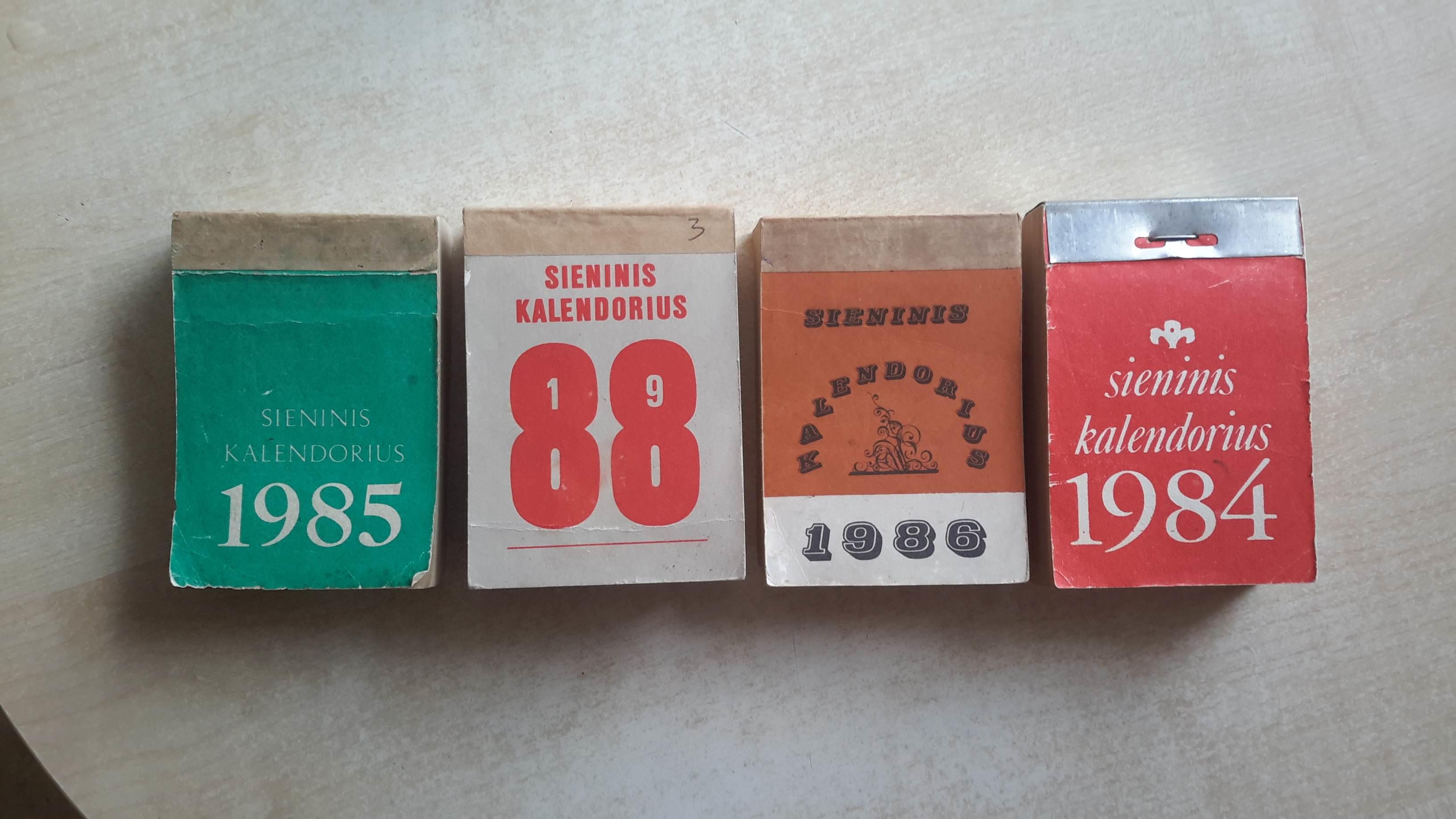 Seni plesomi sieniniai kalendoriai 1935-1970 (superka)