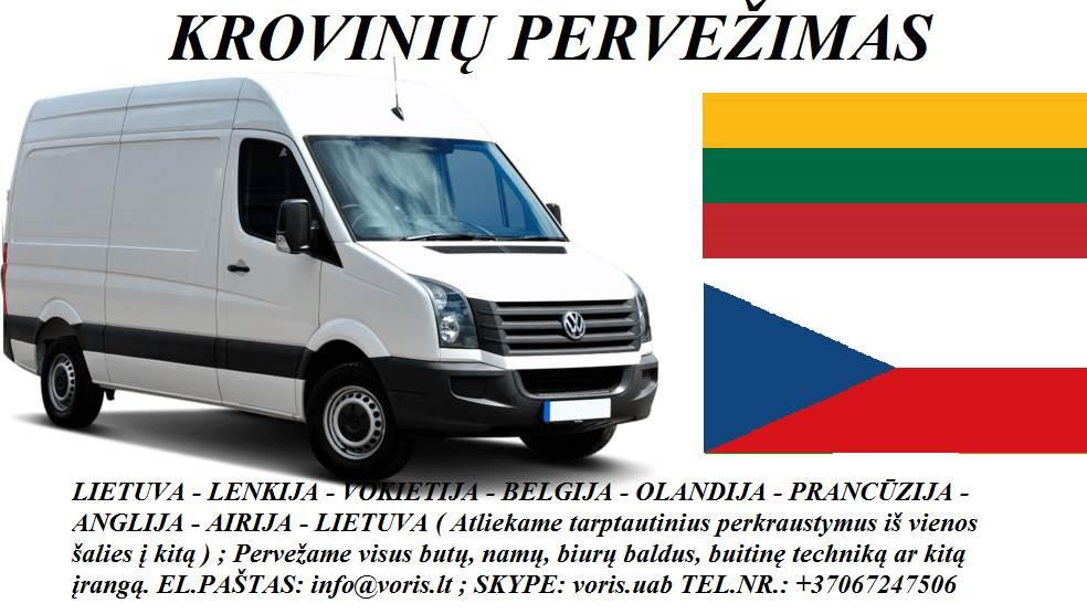 Skubių krovinių/siuntų gabenimas transportu į/iš Čekijos/ Čekiją.