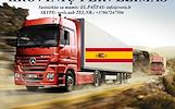 Skubių krovinių/siuntų gabenimas transportu į/iš Ispanijos / Ispaniją.