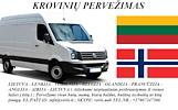 Skubių krovinių/siuntų gabenimas transportu į/iš Norvegijos / Norvegiją.