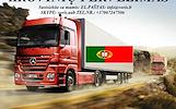 Skubių krovinių/siuntų gabenimas transportu į/iš Portugalijos/ Portugaliją.