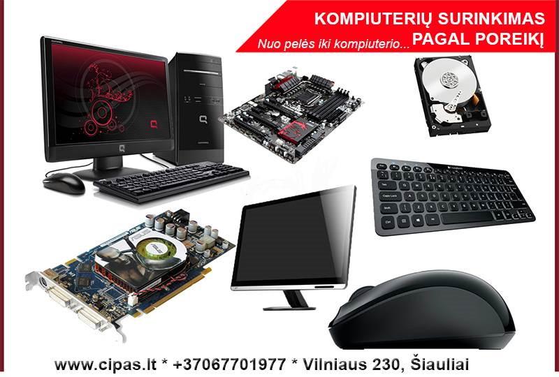 Stacionarių kompiuterių surinkimas pagal individualius poreikius