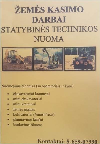 *STATYBINĖS TECHNIKOS NUOMA, 8-659-07990, BOBCAT NUOMA