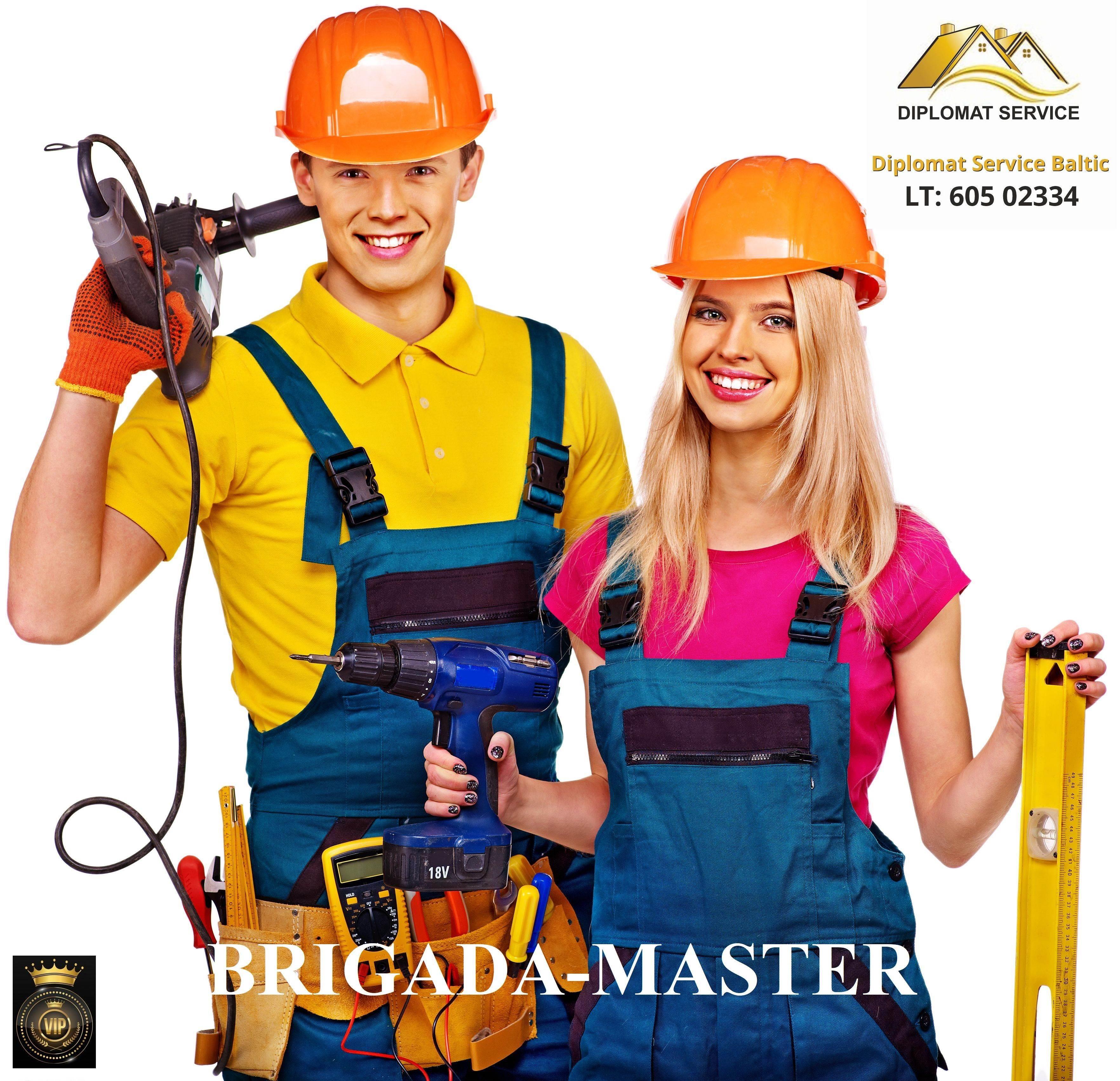 Statybų ir remonto, apdailos, irengimo VIP-projektai – tik Brigada-Master®
