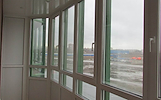 Stikliname balkonus