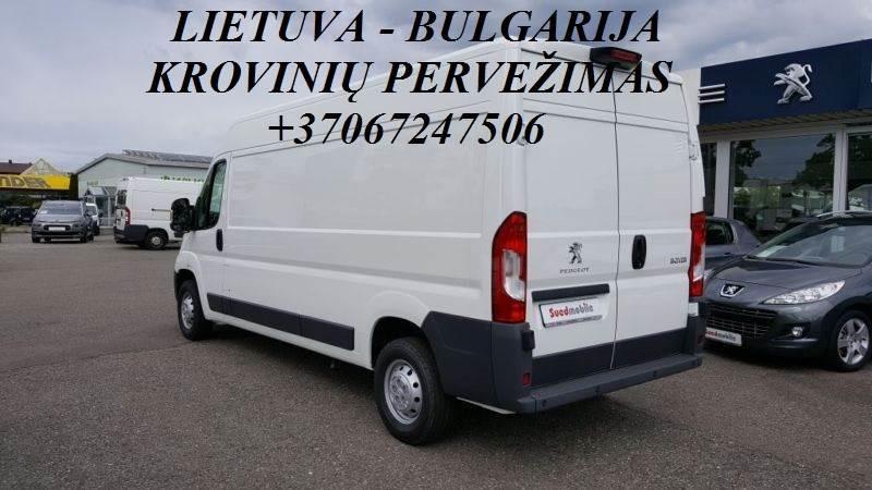 Tarptautiniai perkraustymai Lietuva-BULGARIJA-Lietuva.