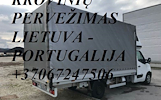 Tarptautiniai perkraustymai Lietuva-PORTUGALIJA-Lietuva.