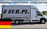 Tarptautinių krovinių pervežimas kelių transportu iš Vokietijos  ar į  Vokietiją vykdomas į / iš šių Vokietijos miestų: Berlino, Hamburgo, Miuncheno K
