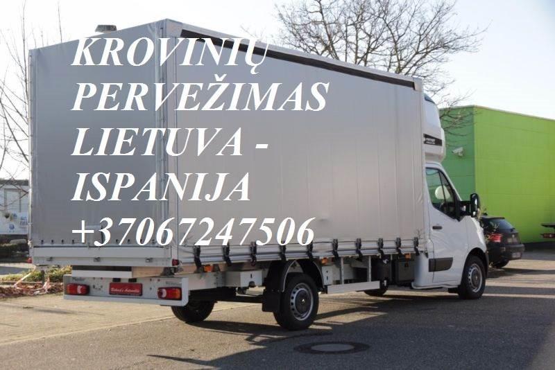 Teikiame tarptautinio perkraustymo paslauga LT - ESP – LT