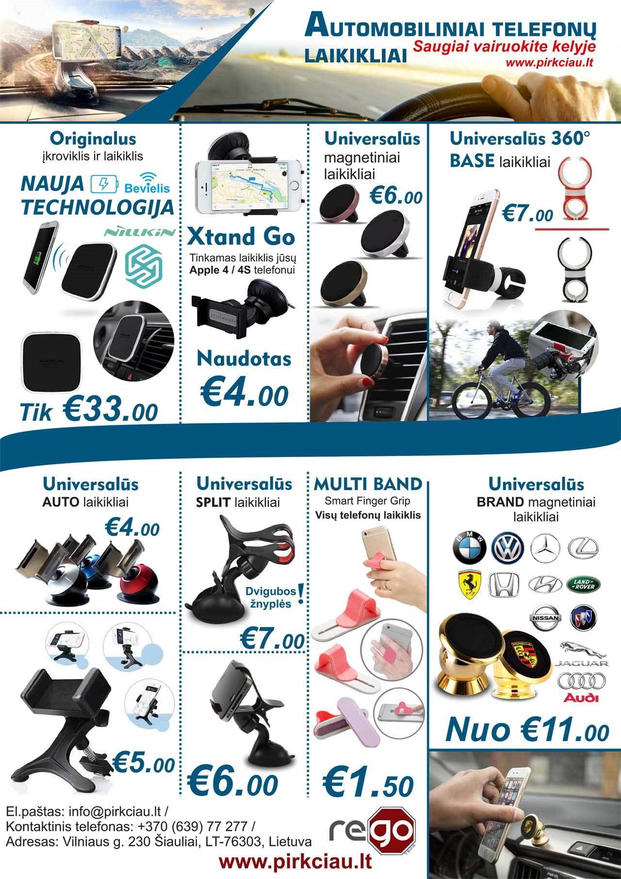 TELEFONŲ LAIKIKLIAI NUO 1,50 eur!
