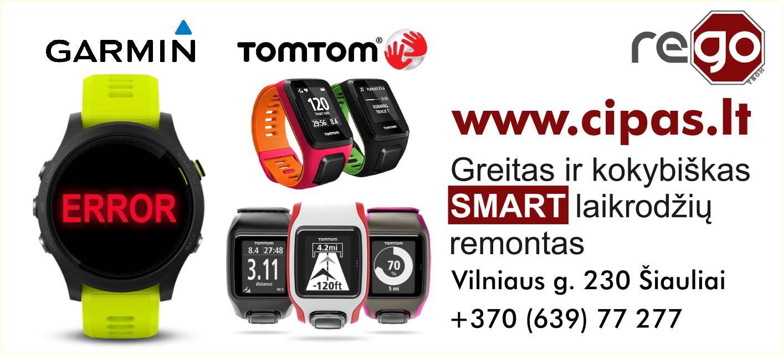 TomTom / Garmin / įvairių SMART laikrodžių remontas / taisykla / paslaugos Šiauliai www.cipas.lt