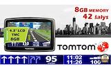 """TOMTOM XL IQ ROUTES 4.3"""", 8GB, ORIGINALIU DĖKLU, 42 ŠALYS NAVIGACINĖ SISTEMA AUTOMOBILIAMS"""