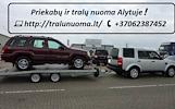 TRALIUKO/PLATFORMOS/PRIEKABOS NUOMA ALYTUS! +37062387452 www.tralunuoma.lt  PLATFORMOS NUOMA ! PLATFORMOS MATMENYS: ILGIS 4.50m PLOTIS 2.10m. Keliamoj