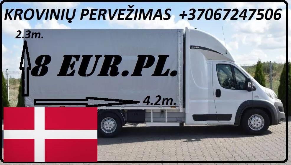 transporto paslaugas Lietuva - Danija - Lietuva.