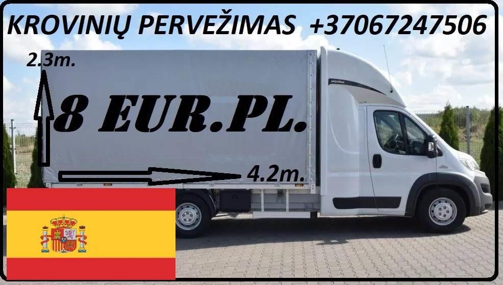 transporto paslaugas Lietuva - Ispanija- Lietuva