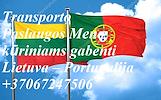 transporto paslaugas Lietuva - Portugalija - Lietuva