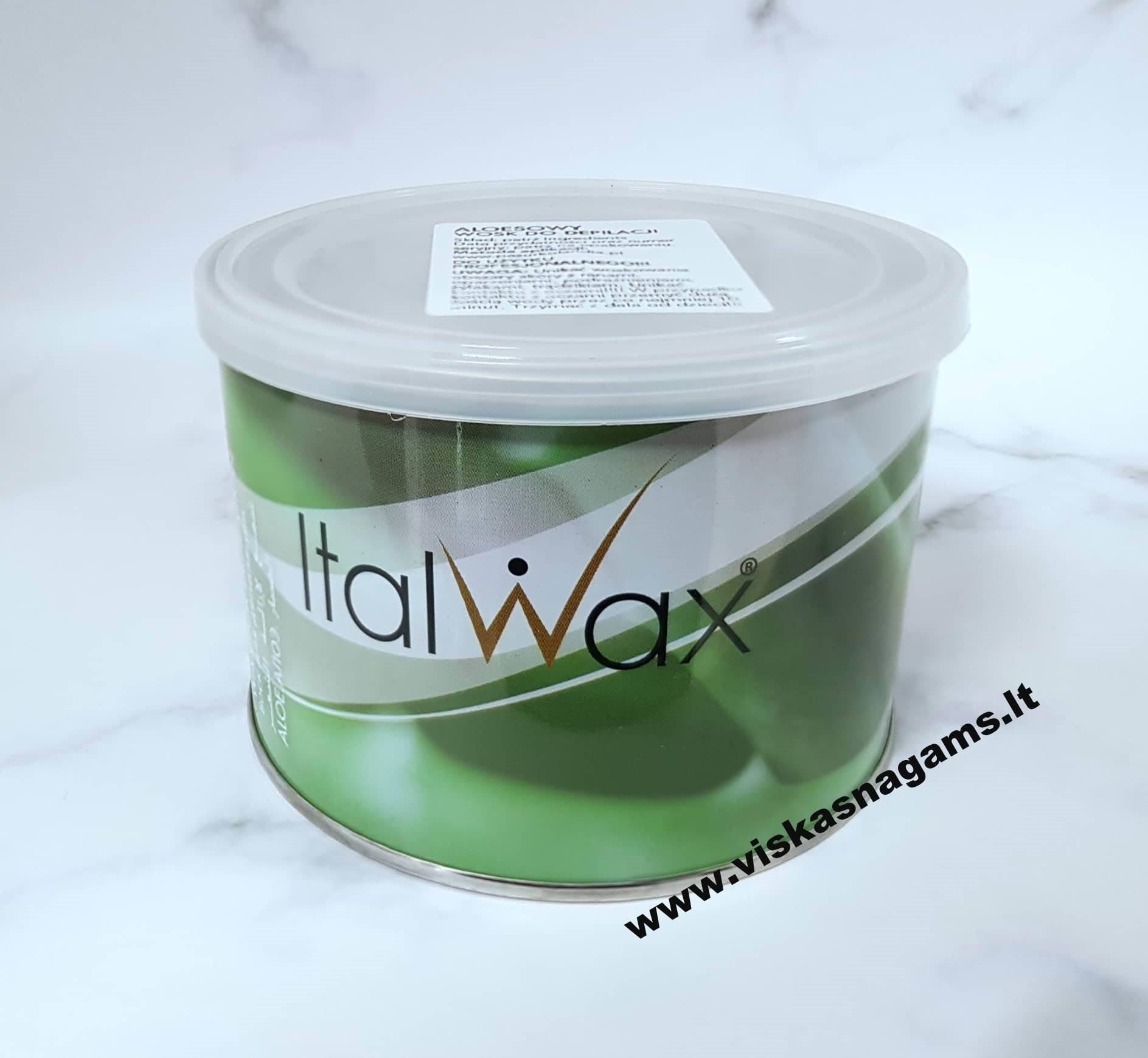 """Vaškas depiliacijai """"Italwax Aloe Vera"""" 400ml"""