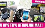 VISŲ GPS TIPŲ ŽEMĖLAPIŲ ATNAUJINIMAI, ĮDIEGIMAI NUO 10EUR