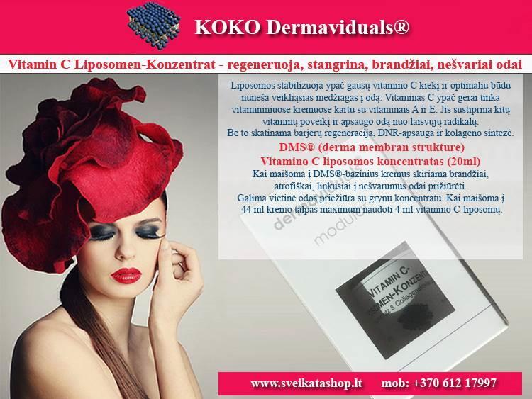 Vitamin C Liposomen 20 ml, kosmetika dermaviduals Vokietija - AKCIJA