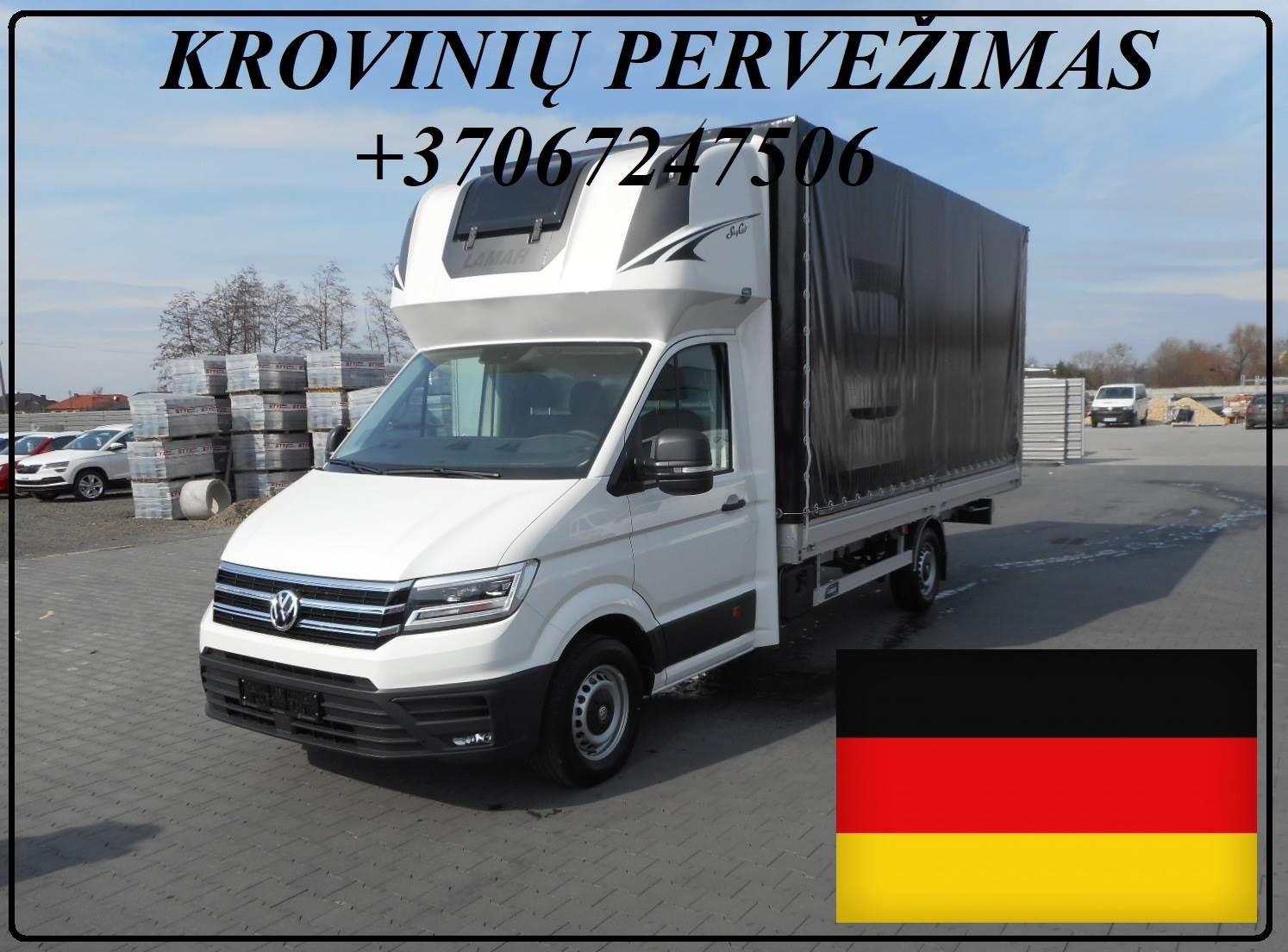 Vokietija Lietuva kroviniu gabenimas / pervezimas DE LT